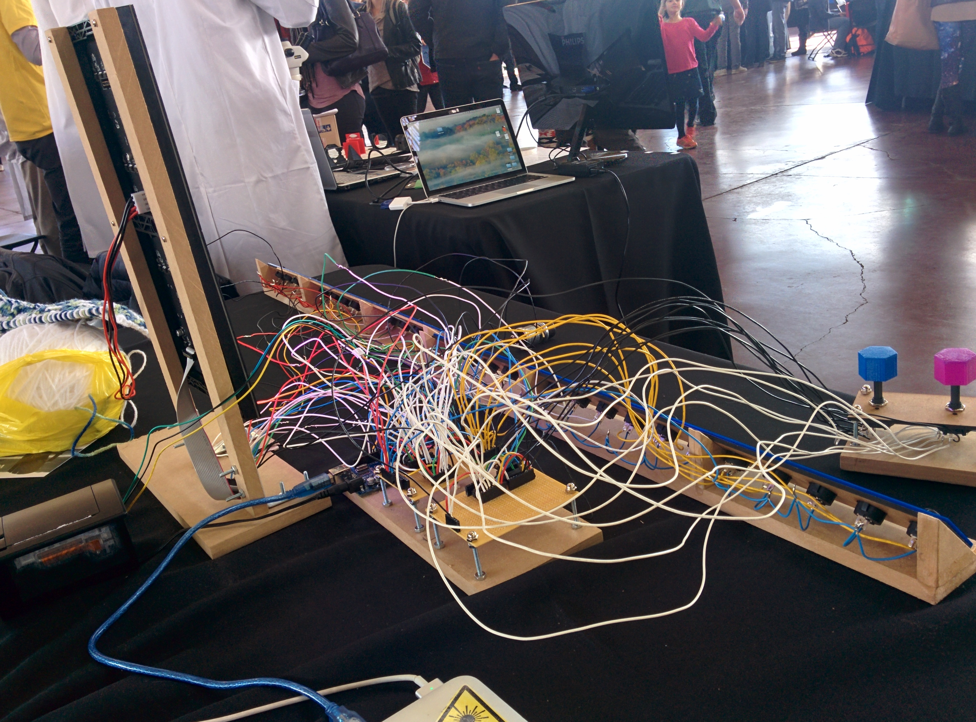 my project set up at makerfaire